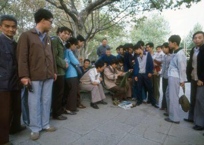 1982 Shanghai Peoples Park free impromptu portrait session Bluyonda