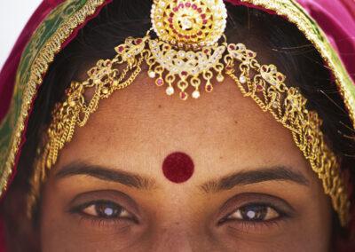 India, Jaipur, Rajasthan, Woman, Face